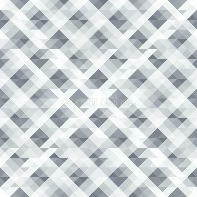 Modelo abstracto inconsútil gris de triángulos libre illustration
