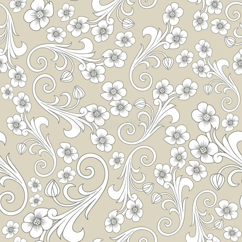 Modelo abstracto inconsútil Oriente o diseño de Rusia ornamentación de lujo, papel pintado del vector, papel de embalaje floral libre illustration