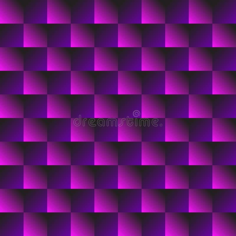 Modelo abstracto púrpura Impresión geométrica inconsútil 3d integrada por polígono y cuadrado púrpuras y rosados Fondo colorido b libre illustration