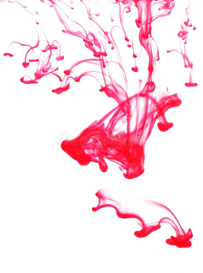 Modelo abstracto rojo fotos de archivo