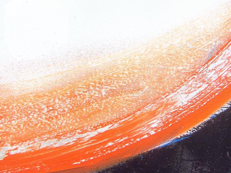 Modelo abstracto Y anaranjada fondo dibujado mano negra del movimiento del cepillo Puede ser utilizado como fondo del flayer o de imágenes de archivo libres de regalías
