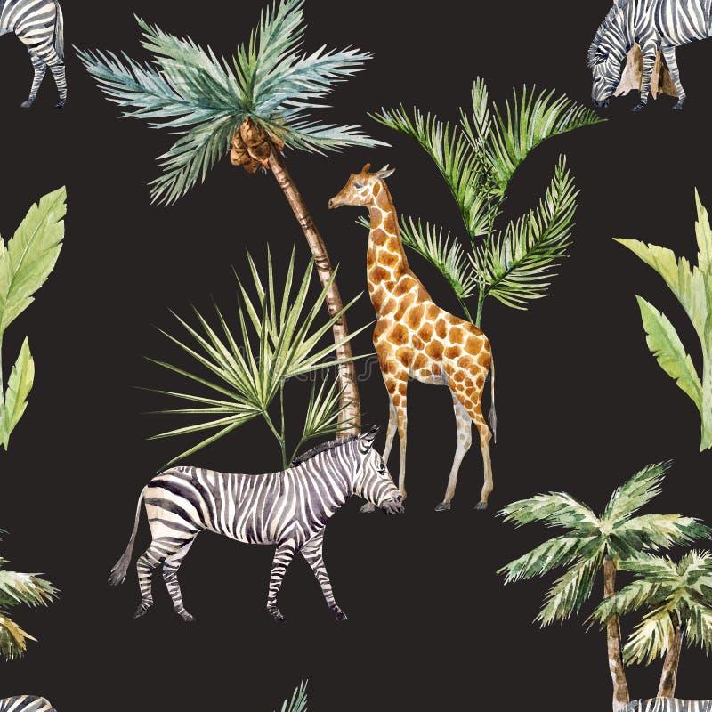 Modelo afriacnan de la acuarela stock de ilustración