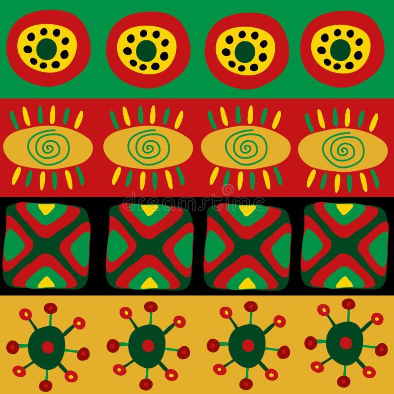 Modelo africano étnico con el ornamento stock de ilustración