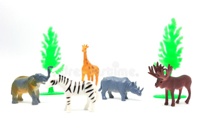 Modelo africano animal isolado no fundo branco, brinquedos animais ilustração royalty free