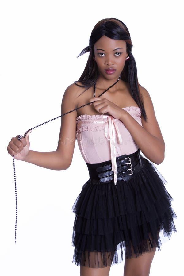 Modelo africano atractivo imagen de archivo