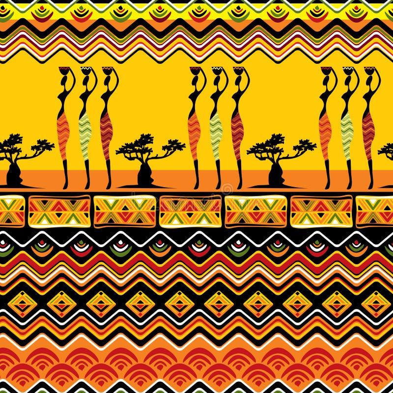 Modelo africano inconsútil stock de ilustración