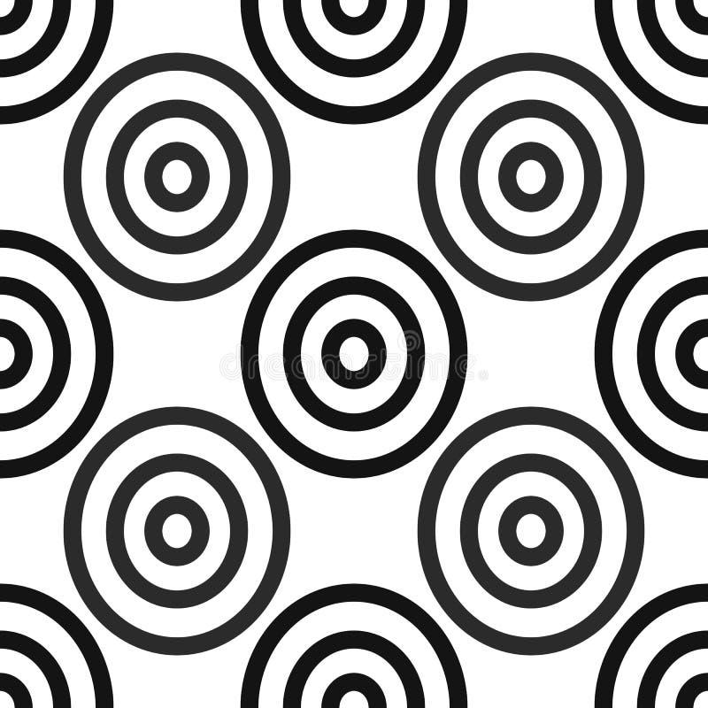 Modelo africano inconsútil de Adinkra - símbolos del arte digital blanco y negro y naciones de la impresión de la pantalla y Akan stock de ilustración
