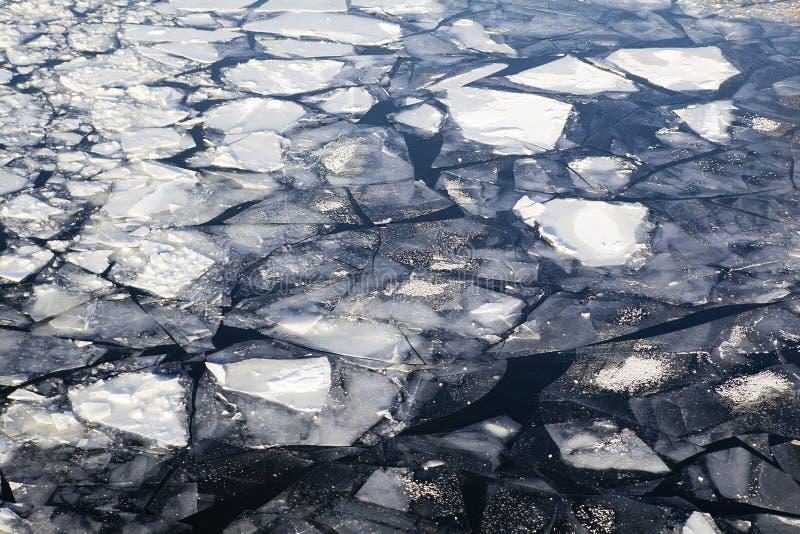 Modelo agrietado del hielo imagen de archivo libre de regalías