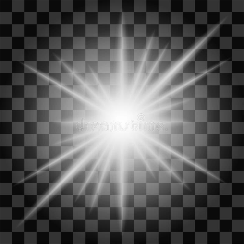 Modelo aislado del starburst en un fondo transparente foto de archivo