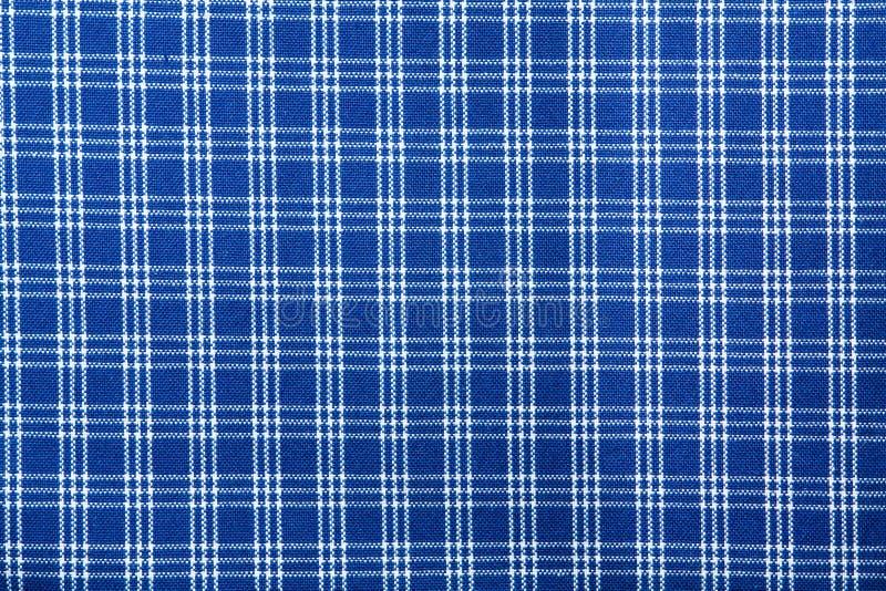 Modelo ajustado blanco azul de la materia textil