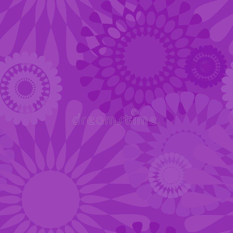 Modelo al azar del vector inconsútil púrpura violeta del papel pintado stock de ilustración