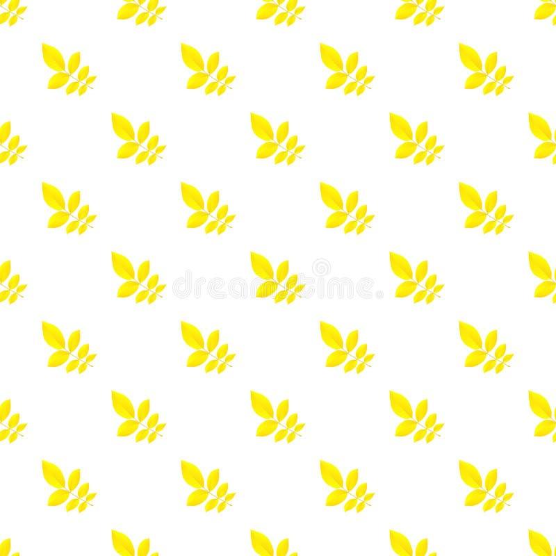 Modelo amarillo de la hoja del otoño inconsútil stock de ilustración