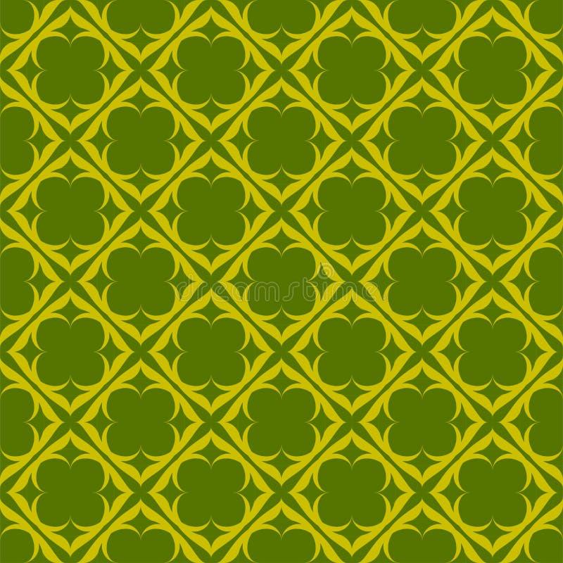 Modelo amarillo en fondo verde Modelo incons?til Extracto libre illustration