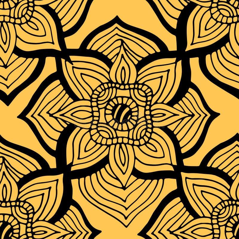 Modelo amarillo inconsútil stock de ilustración