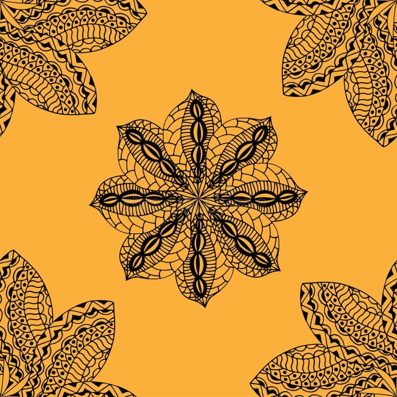 Modelo amarillo inconsútil ilustración del vector