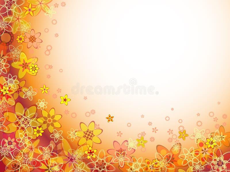 Modelo anaranjado del color de la flor abstracta stock de ilustración