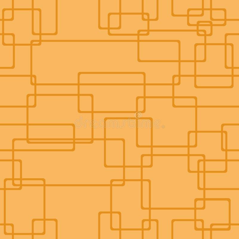 Modelo anaranjado inconsútil Geométrico abstracto Estructura linear de rectángulos con las esquinas redondeadas Vector stock de ilustración