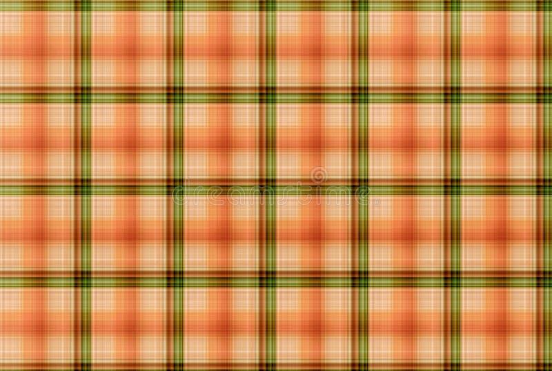 Modelo anaranjado y verde del tartán - tabla de la ropa de la tela escocesa imágenes de archivo libres de regalías