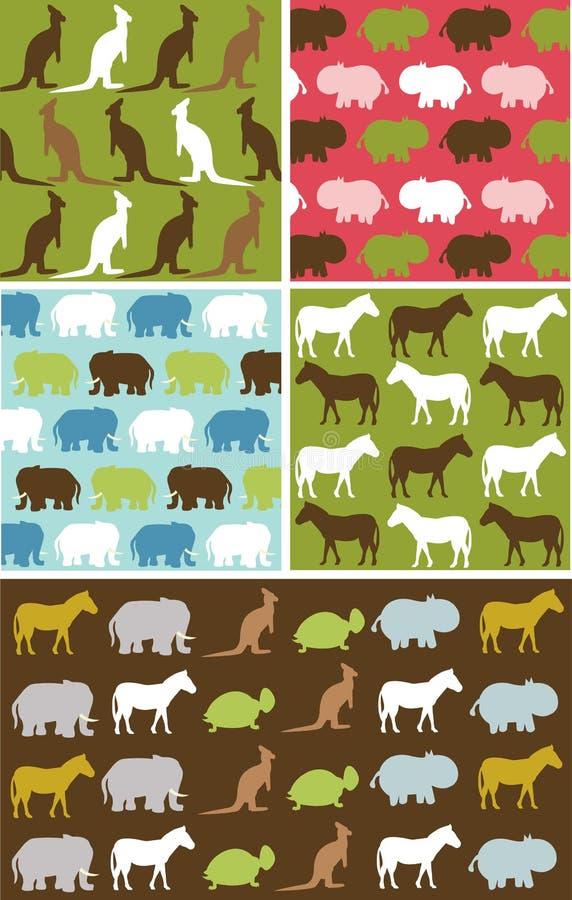 Modelo animal natural inconsútil, textura animal stock de ilustración