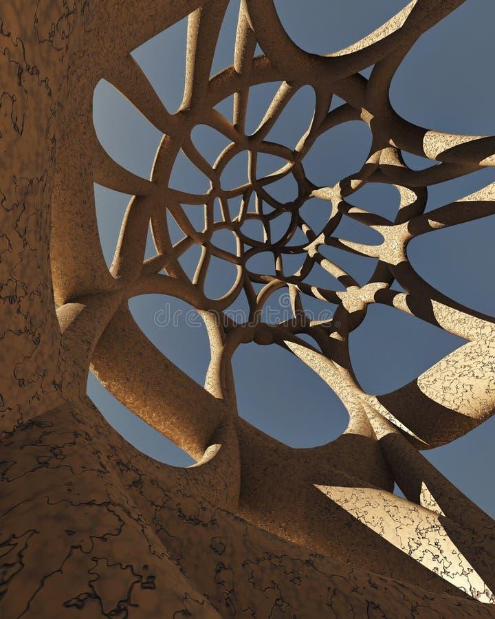 Modelo arquitectónico abstracto fotografía de archivo