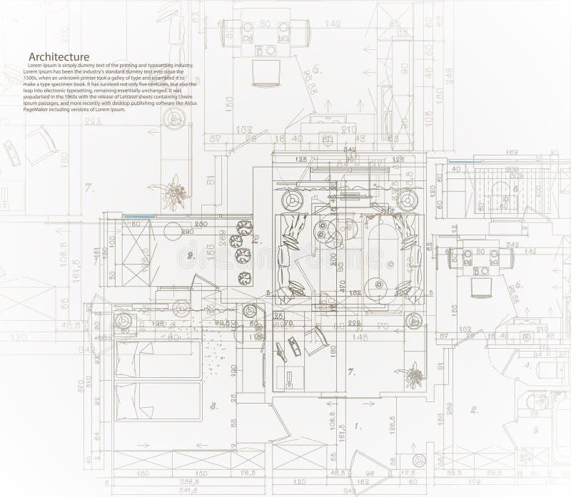 Modelo arquitectónico de la casa stock de ilustración