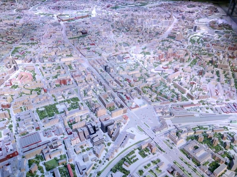 Modelo arquitectónico de Moscú foto de archivo