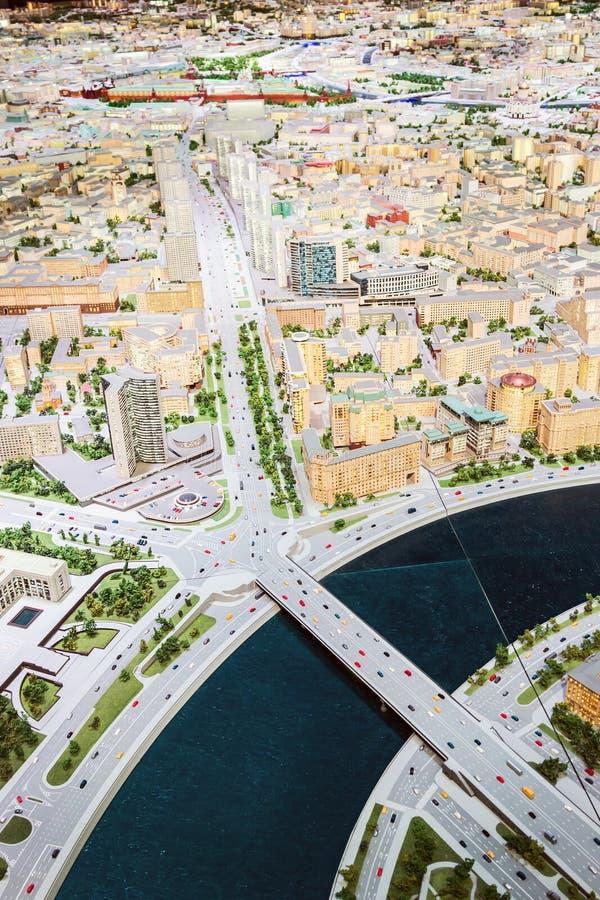 Modelo arquitectónico del objeto expuesto de Moscú para los moscovitas y las huéspedes del capital imagen de archivo libre de regalías