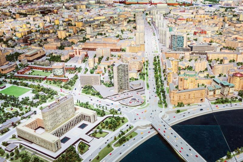 Modelo arquitectónico del objeto expuesto de Moscú para los moscovitas y las huéspedes del capital fotos de archivo