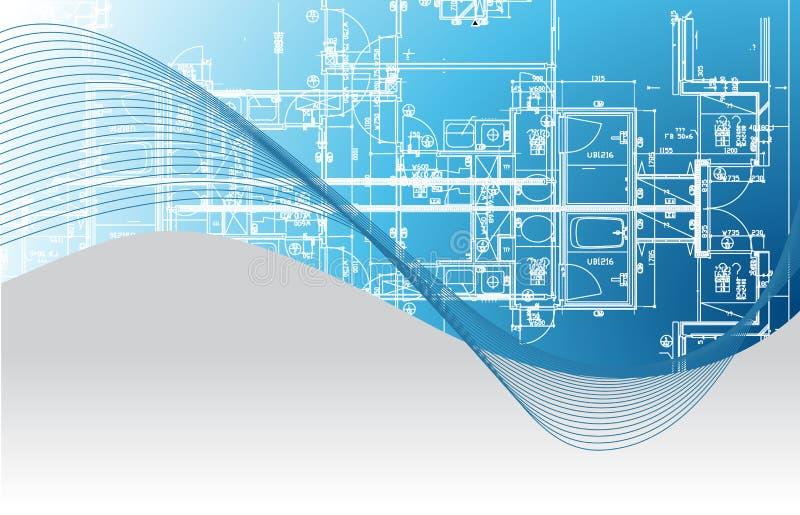 modelo arquitectónico Ilustración ilustración del vector