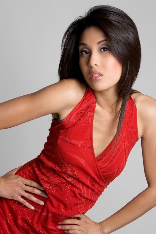 Modelo asiático fotografia de stock