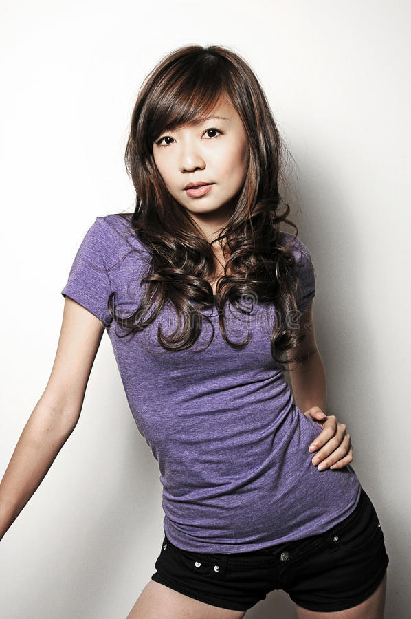 Modelo asiático bonito fotografia de stock royalty free