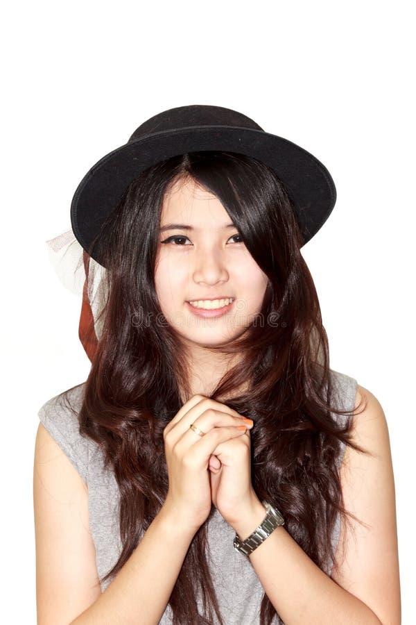 Modelo asiático da mulher foto de stock
