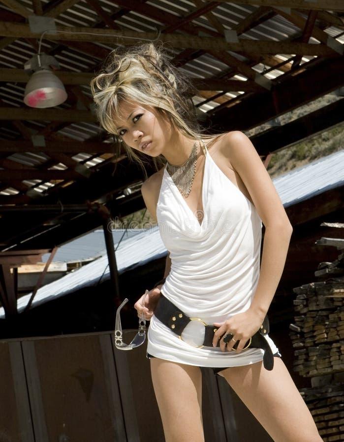 Modelo asiático 'sexy' imagem de stock