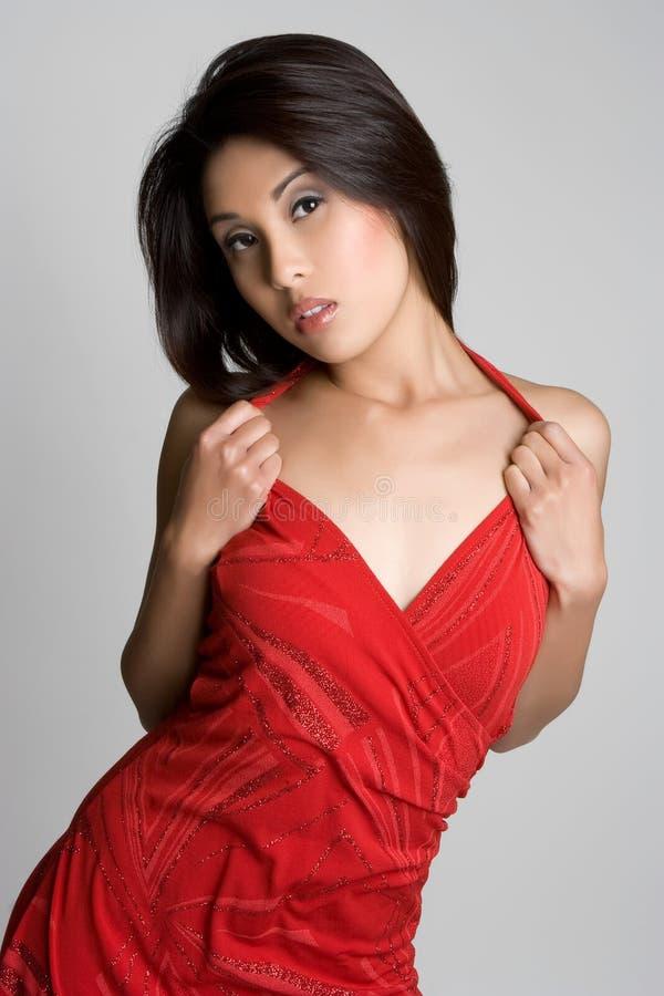 Modelo asiático 'sexy' imagens de stock