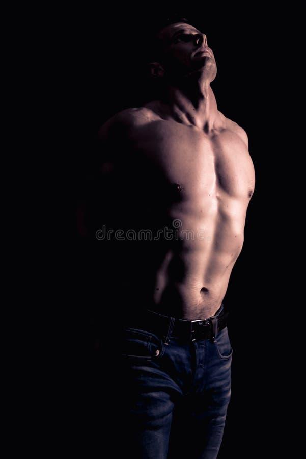 Modelo atlético de la aptitud del hombre foto de archivo