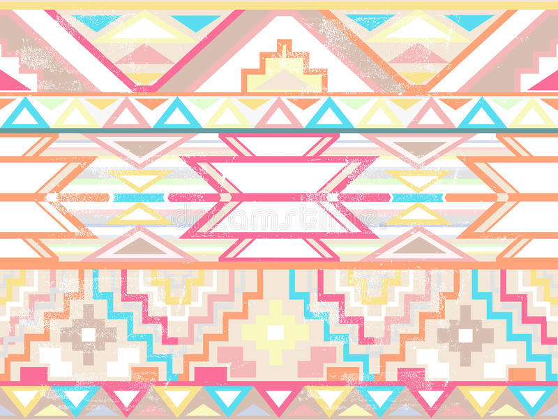 Modelo azteca inconsútil geométrico abstracto libre illustration