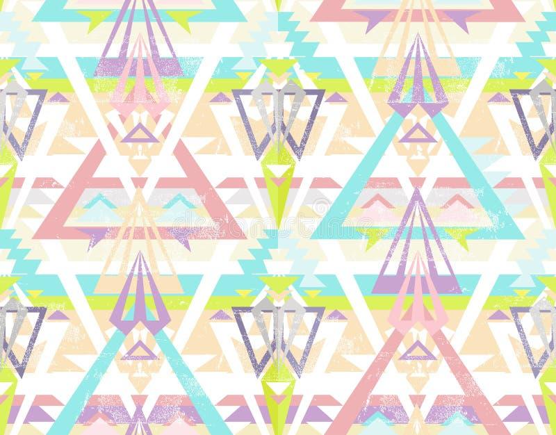 Modelo azteca inconsútil geométrico abstracto. stock de ilustración