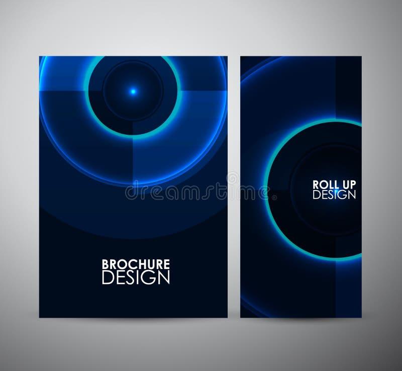Download Modelo Azul Abstracto Del Círculo Plantilla Gráfica Del Diseño De Los Recursos Ilustración del Vector - Ilustración de folleto, decoración: 64212358
