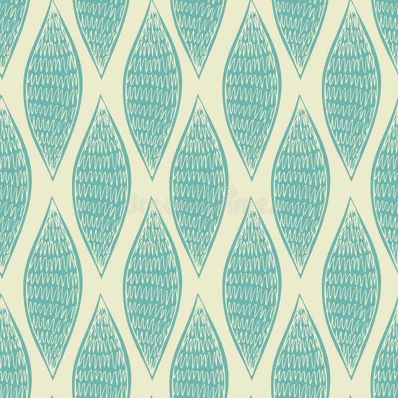 Modelo azul abstracto inconsútil stock de ilustración