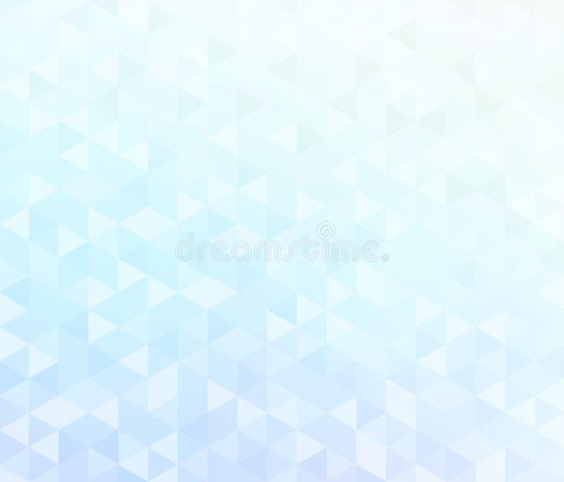 Modelo azul blanco del extracto del diamante Fondo mínimo en colores pastel brillante libre illustration