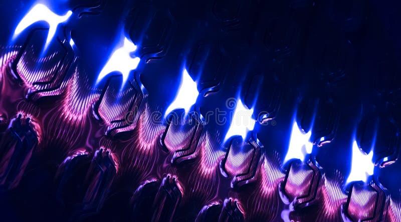 Modelo azul brillante abstracto de la hoja de metal, fondo fotos de archivo