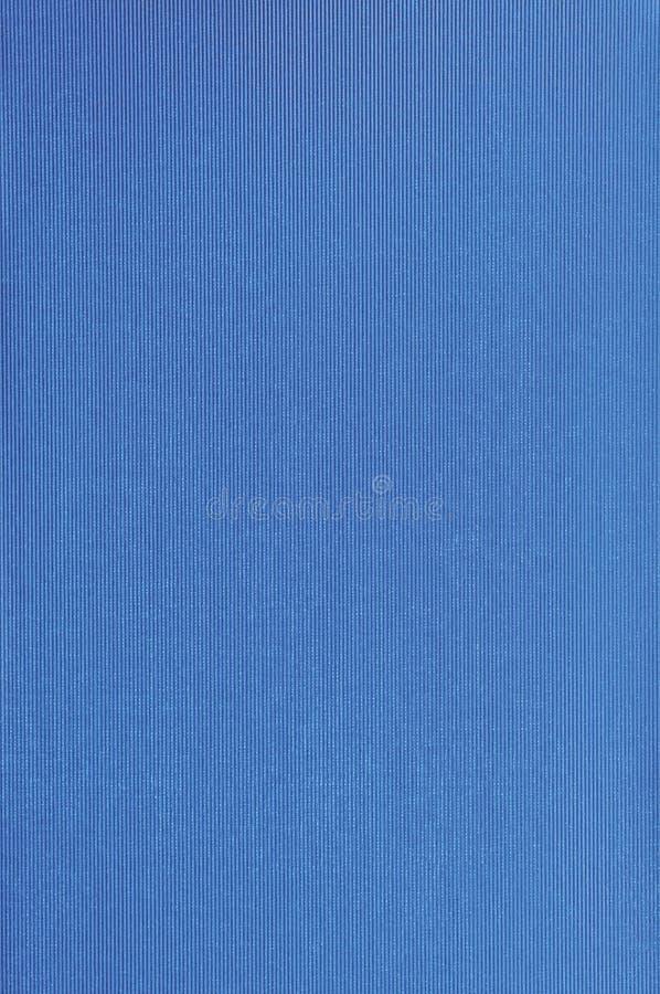Modelo azul brillante natural de la textura del atascamiento de la cubierta de libro de paño de lino de la fibra, primer macro de foto de archivo