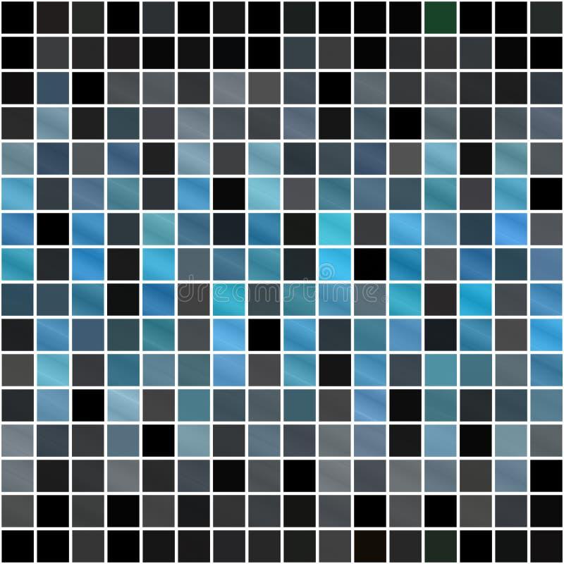 Modelo azul de los cuadrados ilustración del vector