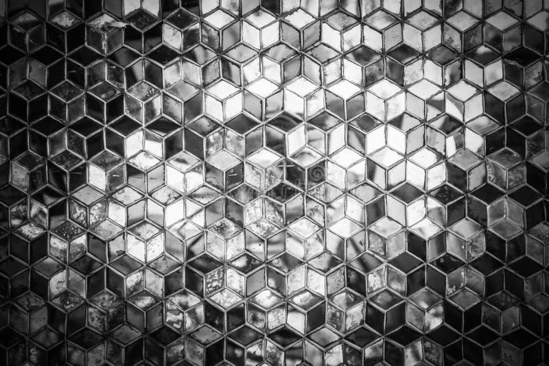 Modelo azul del espejo del mosaico fotografía de archivo libre de regalías