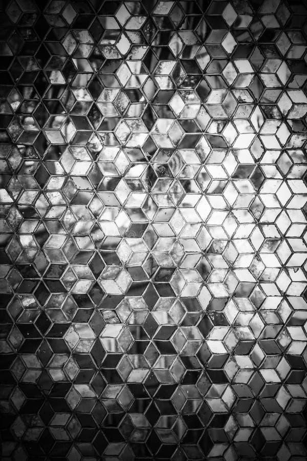 Modelo azul del espejo del mosaico imagen de archivo libre de regalías