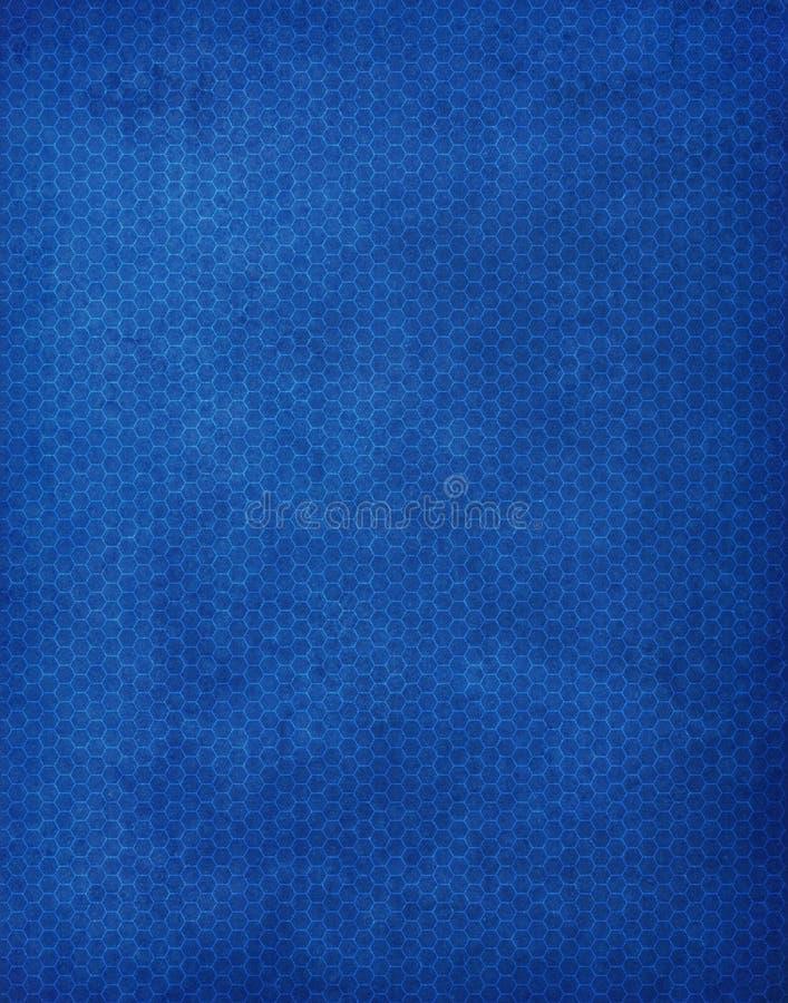Modelo azul del fondo del hexágono stock de ilustración