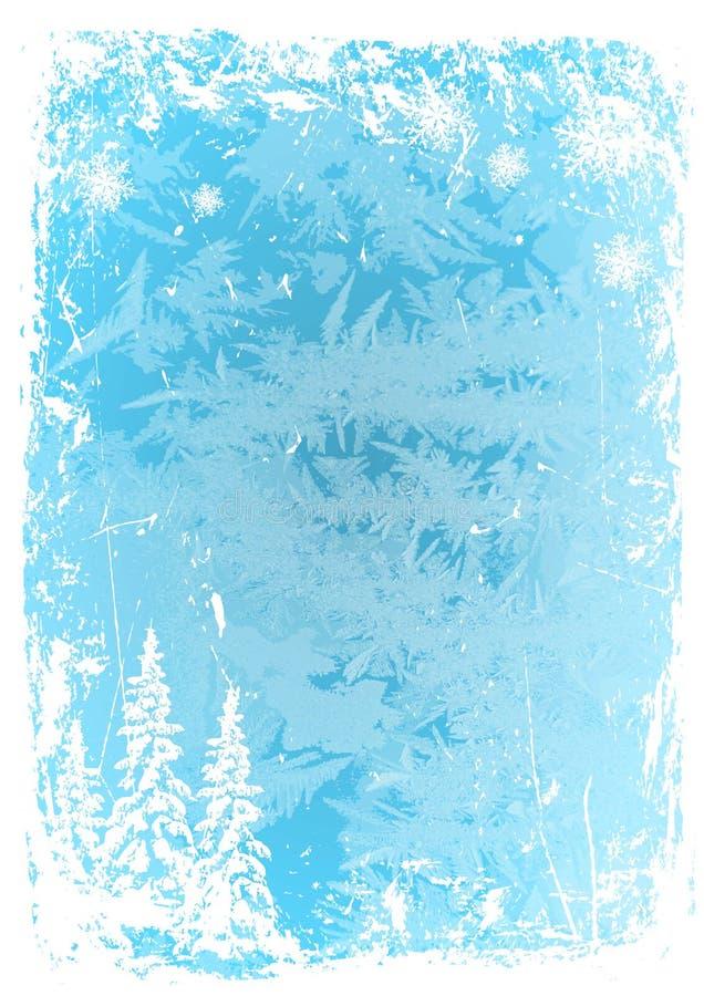 Modelo azul del hielo del grunge del fondo Ilustración del vector stock de ilustración