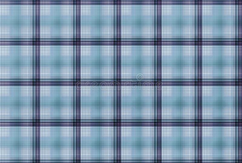 Modelo azul del tartán - tabla de la ropa de la tela escocesa imagen de archivo libre de regalías