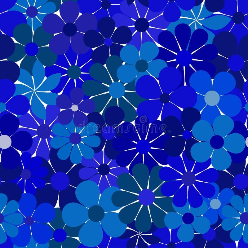 Modelo azul floral inconsútil libre illustration