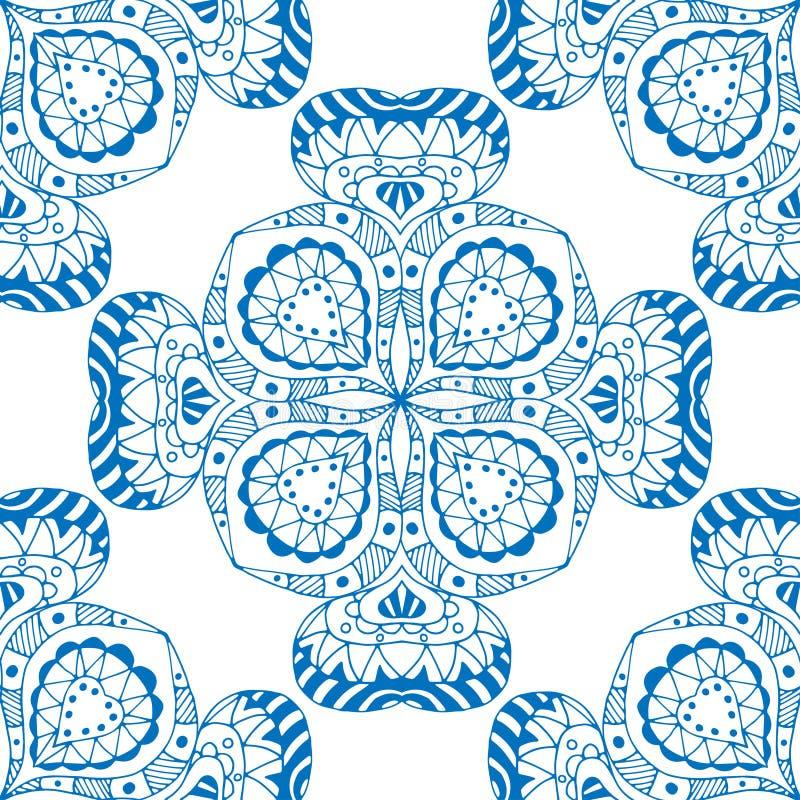 Modelo azul inconsútil stock de ilustración
